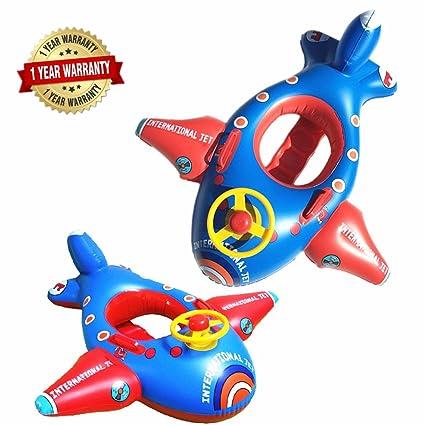 Amazon.com: Bebé Kids Ride On Chair Avión de agua inflable ...