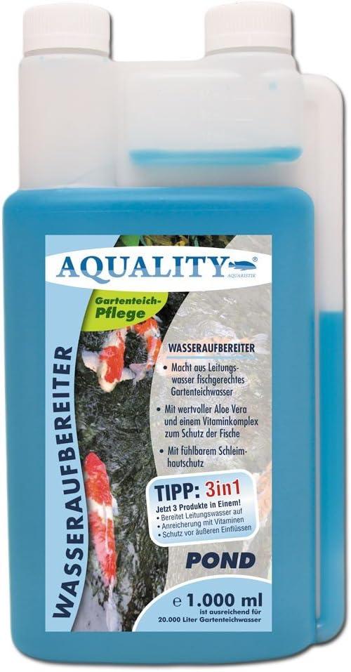 aquality de purificador de Agua Pond 1000 ML (Jardín Agua de Estanque Cuidado y aufbereiter con Aloe Vera + Vitamina ...