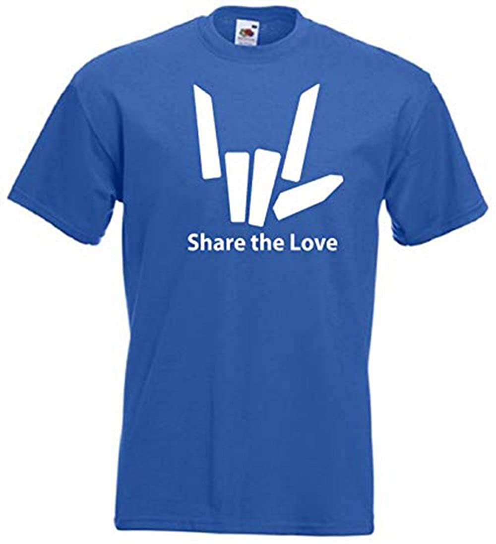 Unisex Boys Girls Share The Love Logo Short Sleeved Cotton Top T-Shirt 3-13 Years