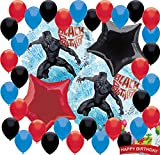 Black Panther Party Supplies Birthday Balloon Decorations Decor Bundle