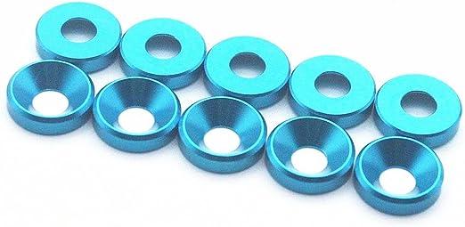 50PCS M6 Countersunk Washer Alloy Aluminum Screw Gasket Dark Blue