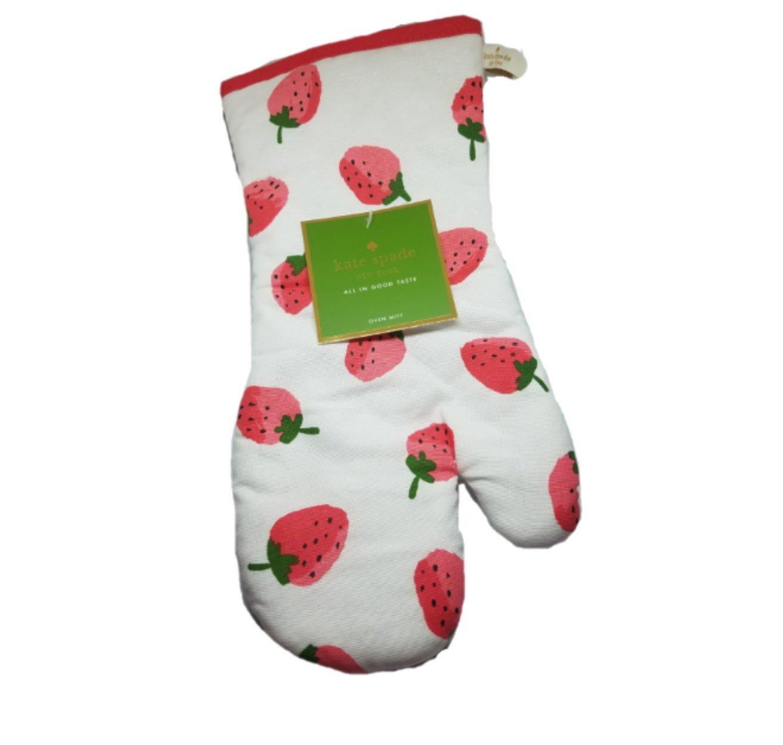 Kate Spade Fresh Strawberries Oven Mitt, Hibiscus