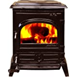 HiFlame EPA approved cast iron wood burning stove HF517U Enamel Brown