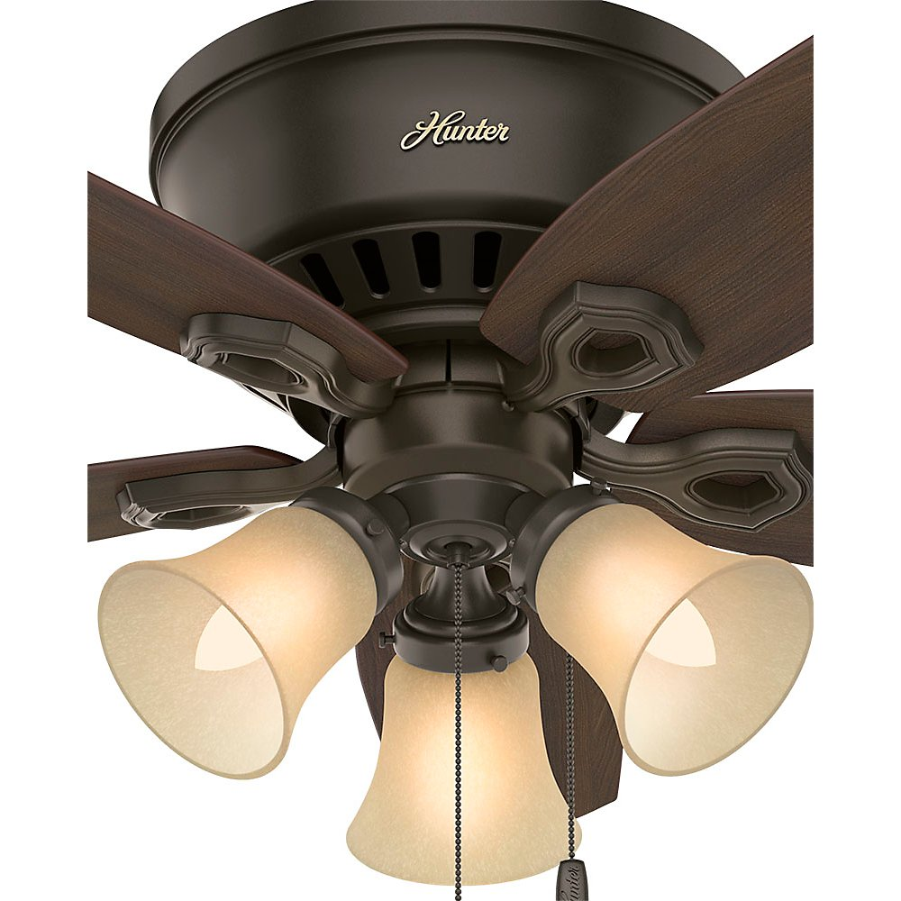 Hunter 51091 42 Builder Low Profile New Ceiling Fan With Light White Wiring Diagram Model Bronze