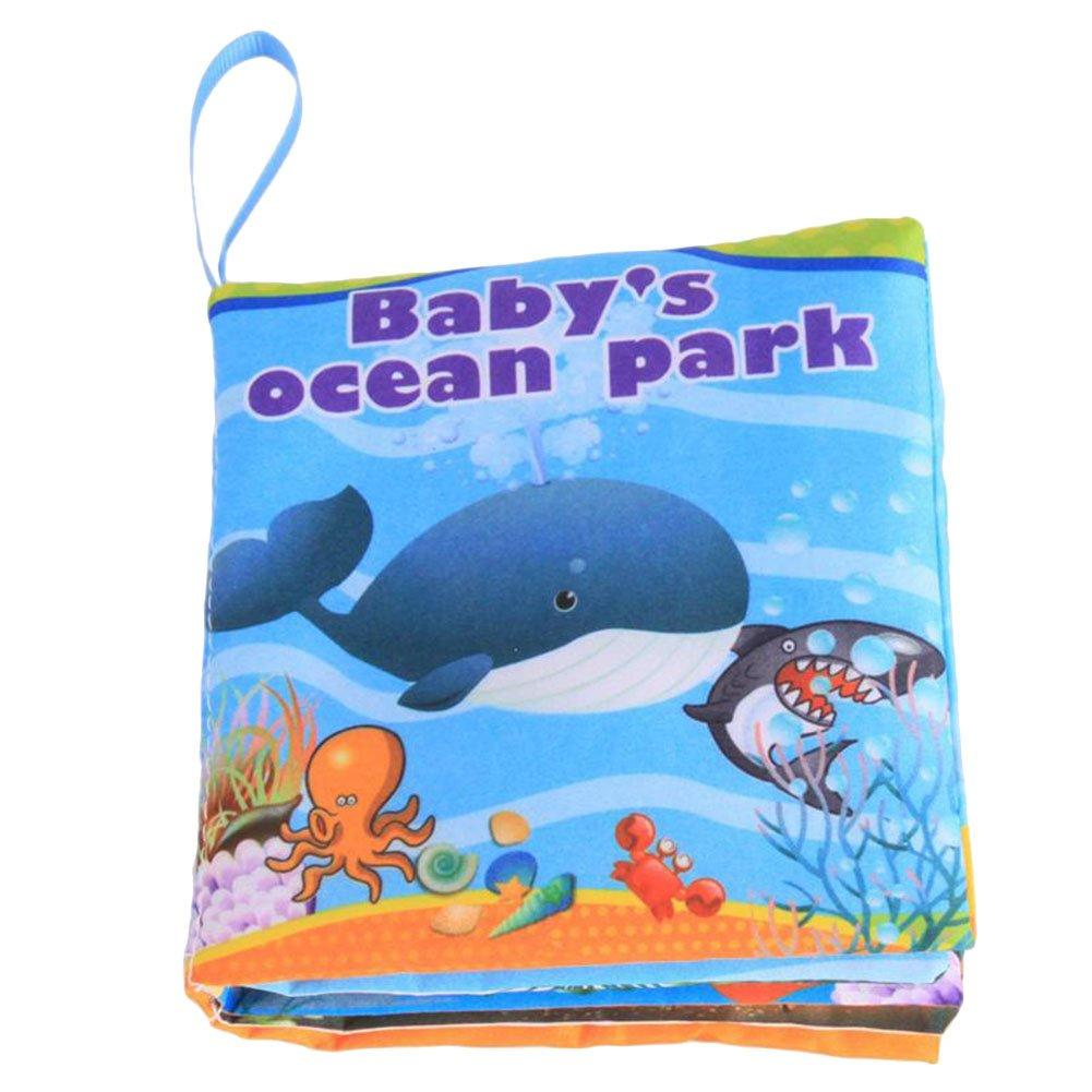 Animales marinos OuYou Libro de Tela Cognitiva para Beb/és Respetuoso con el Medio Ambiente para Educaci/ón Temprana L/ágrimas