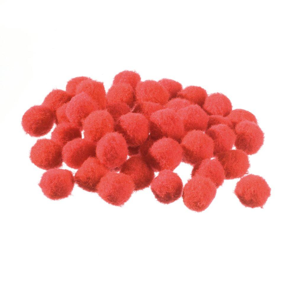 efco–Pompons 15mm 45PCS. Rosso, poliammide 1003028