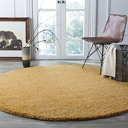 Safavieh Arizona Shag Collection ASG820M Southwestern Gold Round Area Rug (6'7