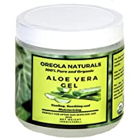Aloe Vera Gel by Oreola Naturals, 16 Oz- 100% Pure, Soothing, Cooling , Hydrating and Moisturizing Ideal for Face, Hair…
