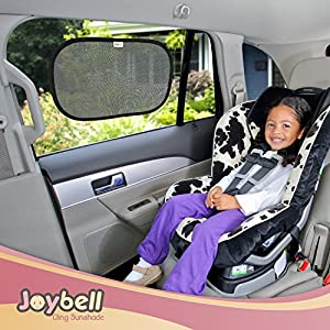 Cool Baby Car Sunshades for Side Windows - Static Cling Sun Shield To Protect And Keep Baby Passengers Cool - 97% UV Protector - Clings To Glass - eBook about Work-Life Balance and Finding Child care