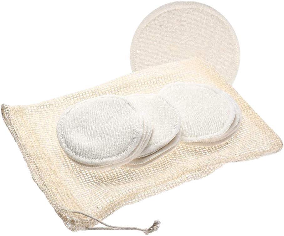 Tampons En bio R/éutilisables Avec Sac /À Lessive Techrace Bambou Coton Demaquillant Lavable Lingettes Nettoyage Du Visage lavable pour visage maquillage Remover essuyer 12 packs