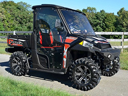 SuperATV Polaris Ranger XP Fullsize 570 / 900 / 1000 Full Cab Doors - Includes Side View Mirrors - Pair of Front Doors