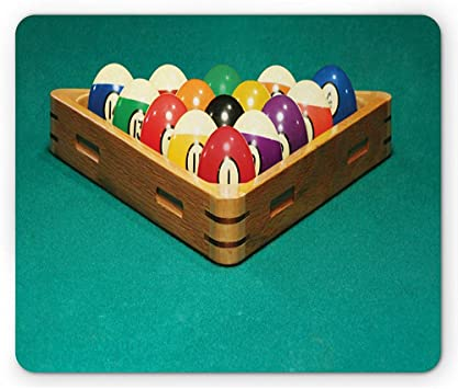 Alfombrilla de Billar, Foto simplista de Coloridas Bolas de Billar ...