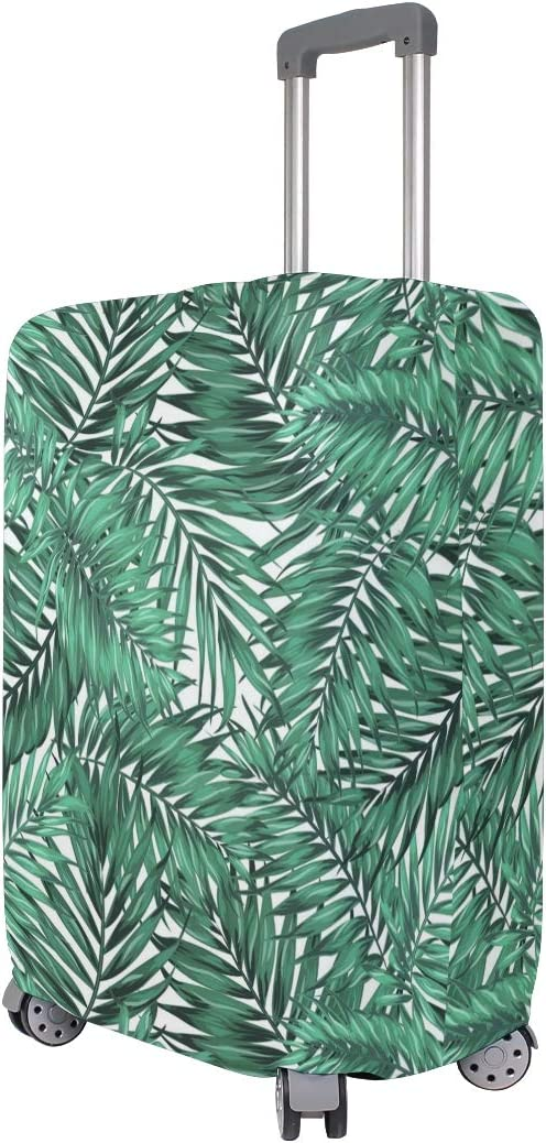 Emerald Long Palm Leaves Travel Luggage Protector Case Suitcase Protector For Man/&Woman Fits 18-32 Inch Luggage