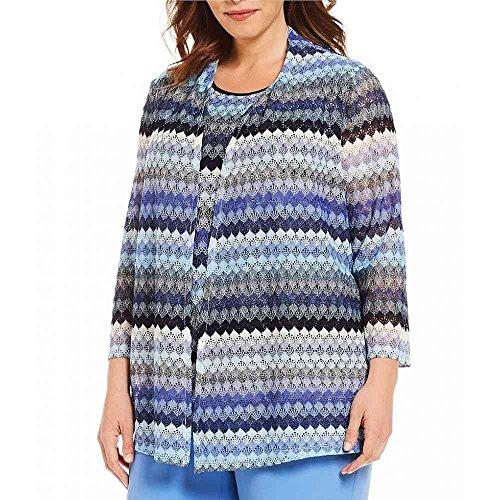 (カスパール) Kasper レディース トップス カーディガン Plus Size Crotchet Lace Cardigan [並行輸入品]