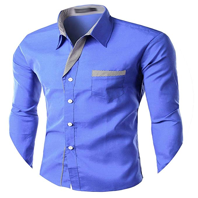 Piiuiy Yuik Masculina Long Sleeve Shirt Men Korean Slim