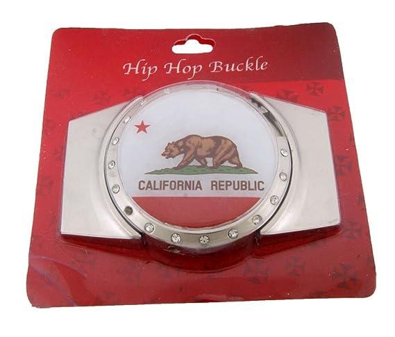 Amazon.com: Letter Love Fashion Golden State California Flag ...