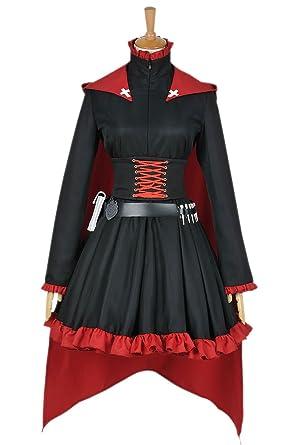 Amazon Com Xomo Rwby Cosplay Red Trailer Ruby Rose Costume Gothic