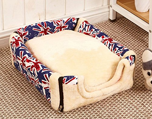 Type 4 L Type 4 L Small Medium Dogs Travel Pet Bed Bag Foldable Pet Dog Bed Cat Bed House Multifuctional Dog House With Mat(Large)