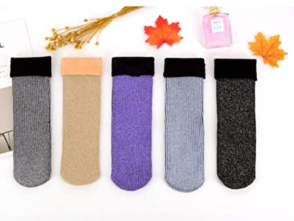 Amazon.com: Lannmart Christmas Socks Glitter Winter Velvet Socks Thick Vintage Funny Calcetines Mujer Women Chaussette Femme Warm Socks Fox: Kitchen & ...