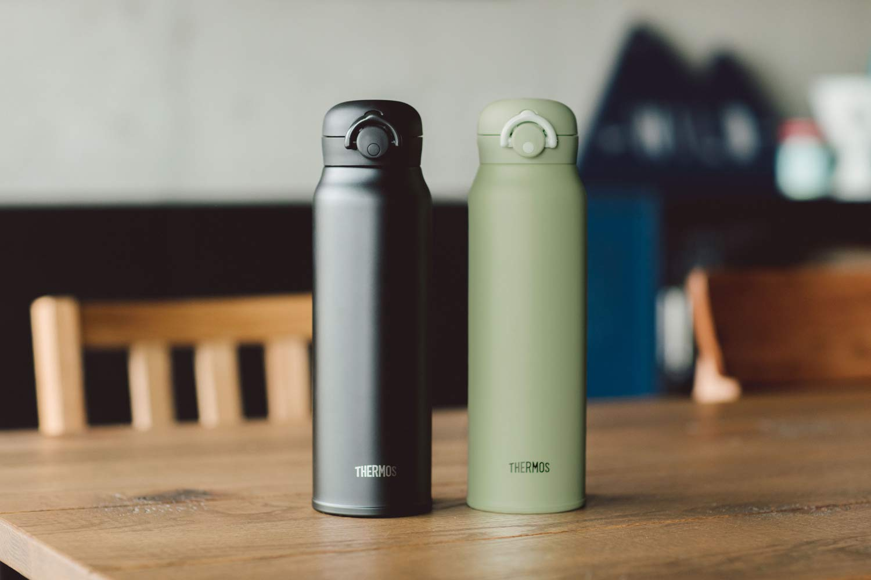 Mua Thermos JNR-601 KKI Vacuum Insulated Portable Mug, One-Touch Open Type,  Khaki, 20.3 fl oz (600 ml) trên Amazon Nhật chính hãng 2021 | Fado