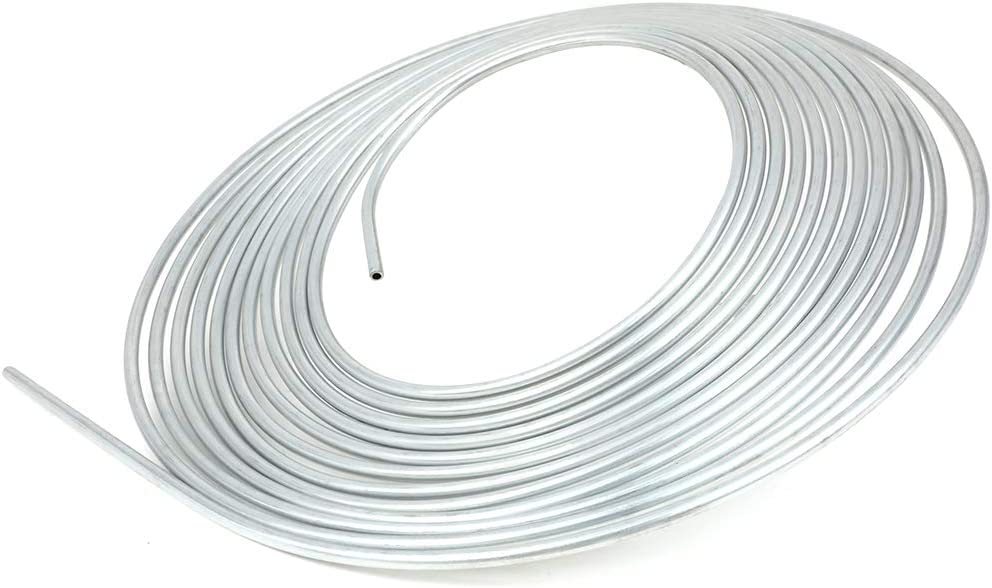 ROADFAR 25Ft 3//16 Brake Line Tubing Coil and Fitting Kit SAE Thread 0.028 inch wall thickness Inverted Flare 16 Fittings Included