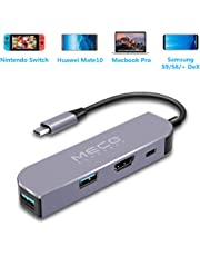 MECO USB C Adapter für Nintendo Switch (Upgrade Newest) mit 4K HDMI/USB C/USB 3.0 Ports (Fast Charging 87W + Datenübertragung) für Samsung Galaxy Dex Station, MacBook Pro USB C Geräte