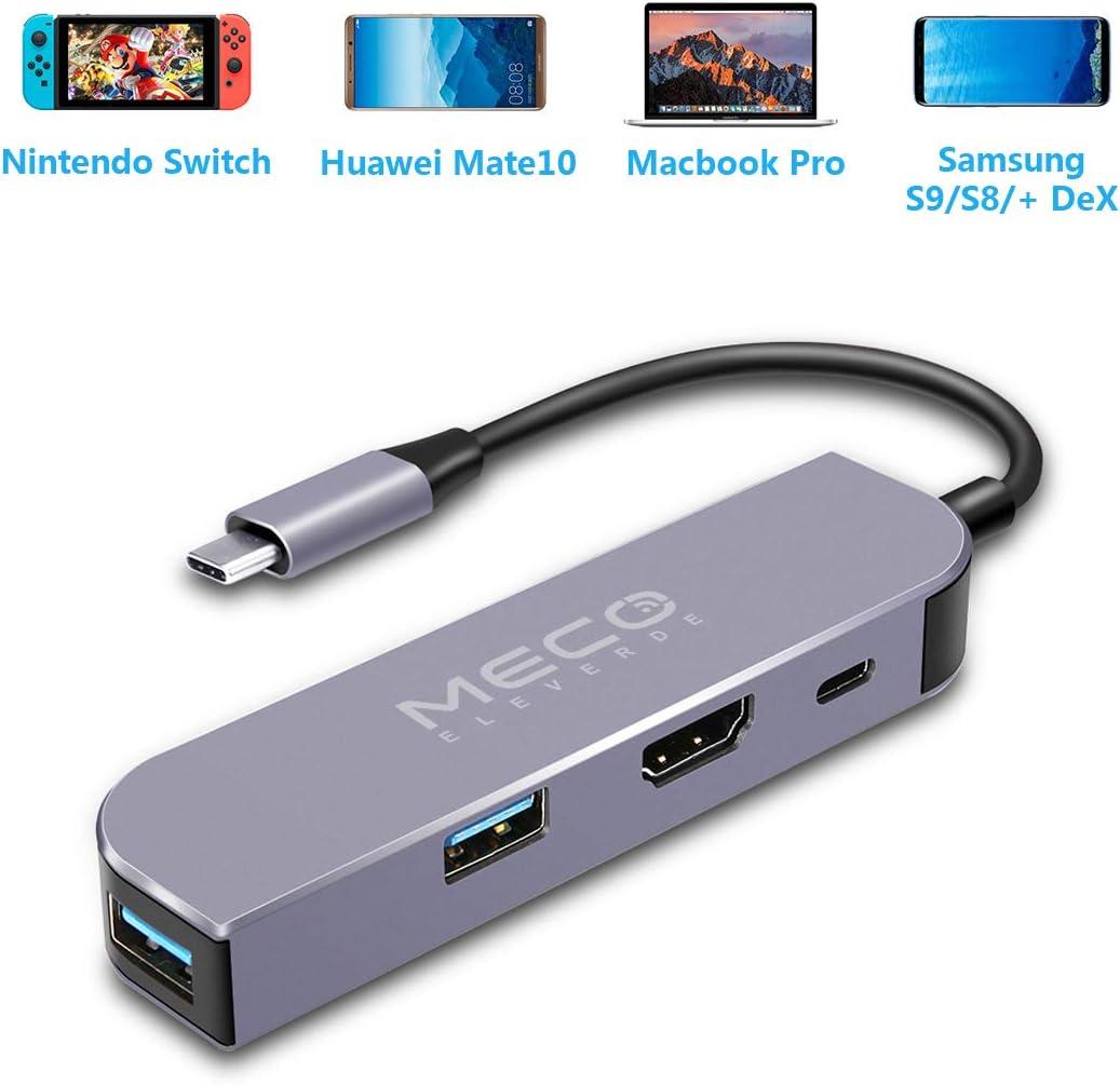 Hdmi Hub Type-C Docking, MECO 1080P HDMI Adapter para Nintendo Switch, USB Charging Port C PD y USB Hub-A 3.0 HDMI Cable Converter para Macbook Pro 2017 y 2016 Gris: Amazon.es: Electrónica