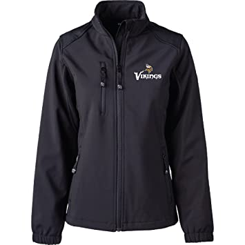 the latest a8fd5 7305c Dunbrooke Apparel NFL Minnesota Vikings Women's Softshell Jacket, X-Large,  Black