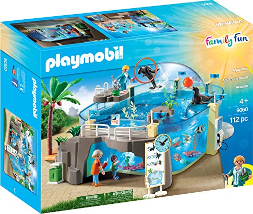 PLAYMOBIL Aquarium Building Set (Little People Jump And Play Swing Set)