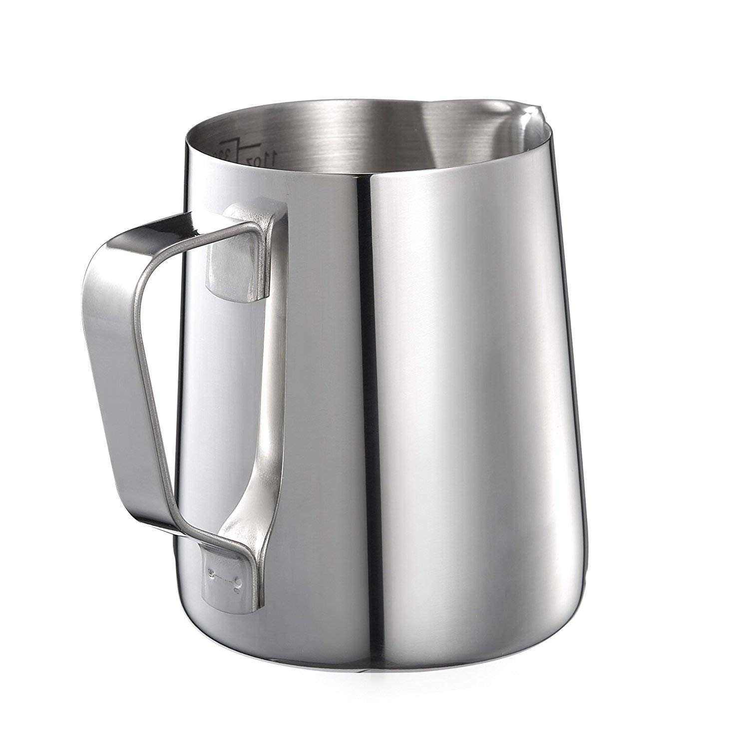 Kendan Stainless Steel 350ml Milk Frothing Pitcher Measuring Jug Cup