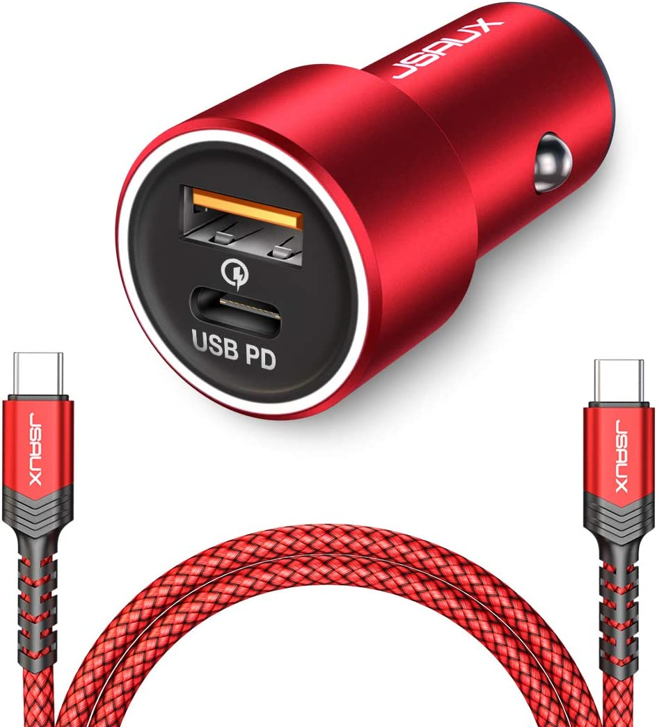 JSAUX USB C PD Car Charger Google Pixel 3 2 XL Samsung Galaxy S20 S20+ Note 10 iPad Pro 36W Fast Type C Adapter with 18W Power Delivery /& QC 3.0 Compatible for iPhone 11 Pro Max//XS Max//XR//X//8 Plus