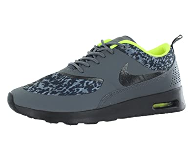75d0f7c2a5 Nike Air Max Thea Print Running Shoes for Women, Dark Grey/Black/Volt
