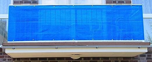 Balkonsichtschutz Sichtschutz Balkon 500x90 grün blau Windschutz Bespannung NEU
