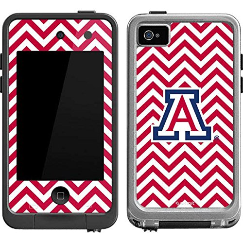Skinit Arizona Wildcats Chevron Print LifeProof fre iPod Touch 4th Gen Skin for CASE - Officially Licensed College Skin for Popular Cases Decal - Ultra Thin, Lightweight Vinyl Decal Protection