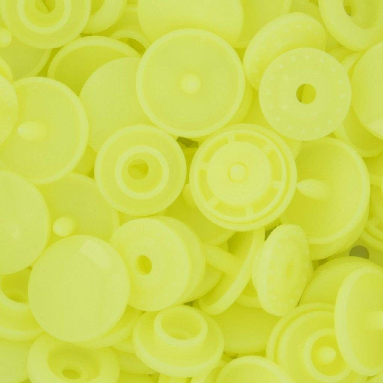 1000 Set Plastic Resin Snaps Crafts (Neon Yellow) WT by Eternal Cover