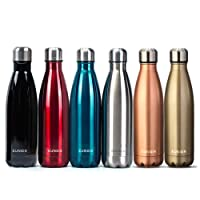 Kungix Vacuum Water Bottle, Insulated Stainless Steel Metal Lightweight Double Walled Drinking 500ml Flask Vase for Outdoor Sports Riding Cycling Camping Hiking