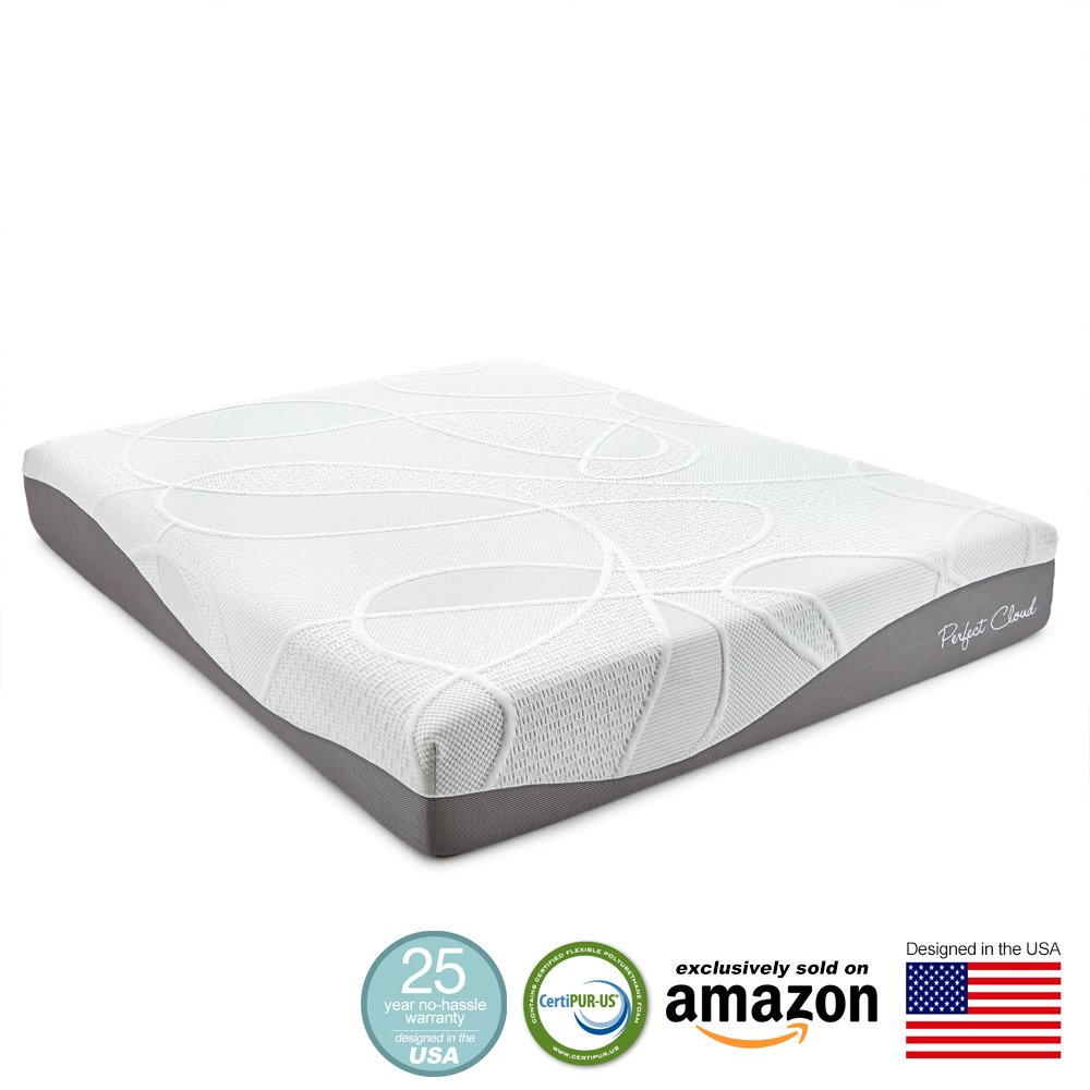Perfect Cloud Ultraplush Gel Max 10 Inch Memory Foam Mattress Amazon Lightning Deal Evening