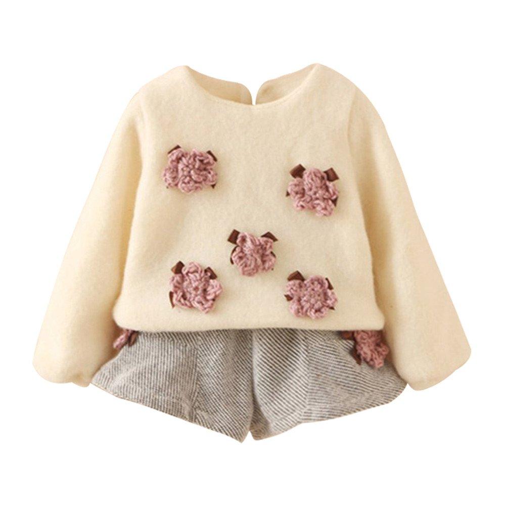 Mud Kingdom Girls 2 Piece Rosette Fleece Top and Shorts Set