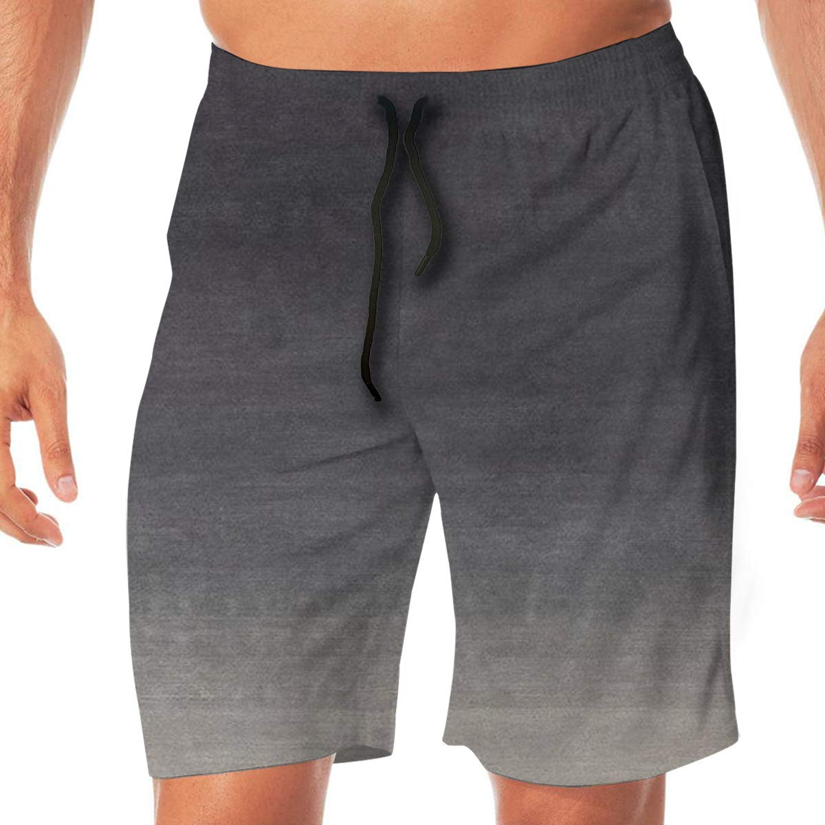 Mens Beach Pants Senior Ash Drawstring Elastic Waist Casual Loose