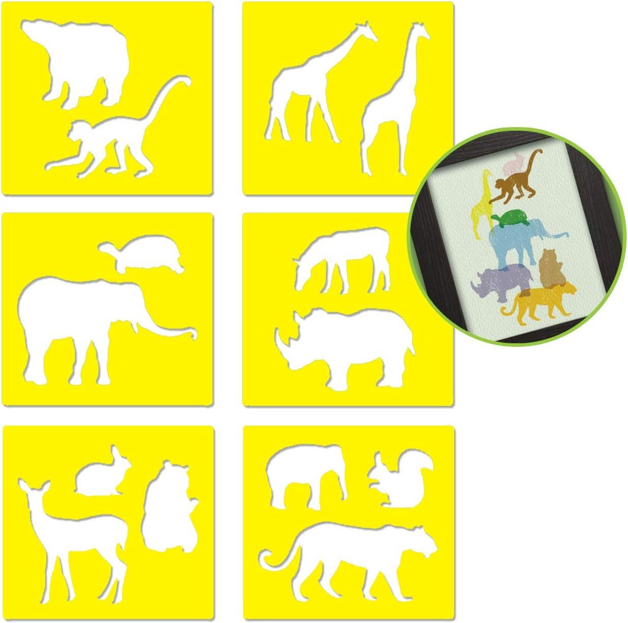 Stencils for Kids Children Plastic Drawing Painting Stencil Templates Tools Kits