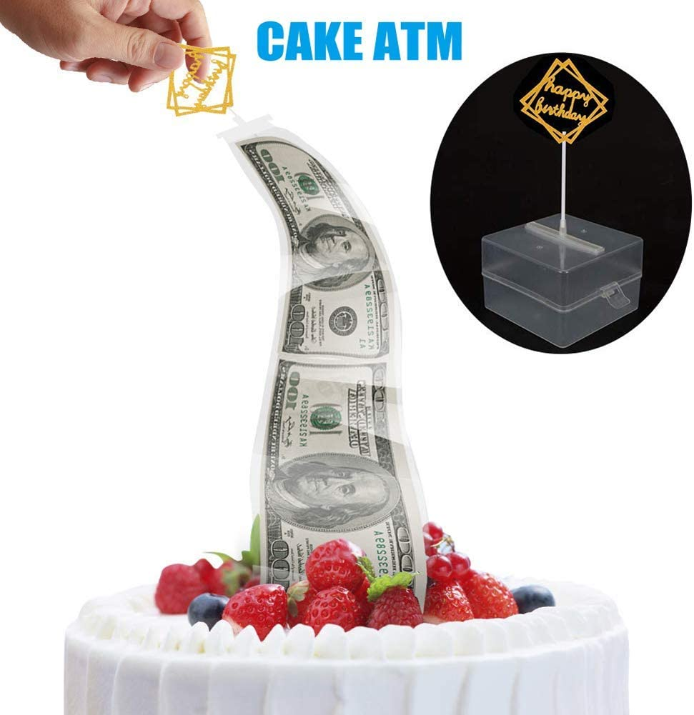 Phenomenal Reuvv Happy Birthday Cake Topper Cake Money Box Cake Atm Money Personalised Birthday Cards Veneteletsinfo