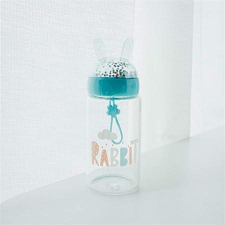 ZJINHUI Botella de Agua para niños con Estrellas, Botella de Agua de Dibujos Animados Taza Frasco