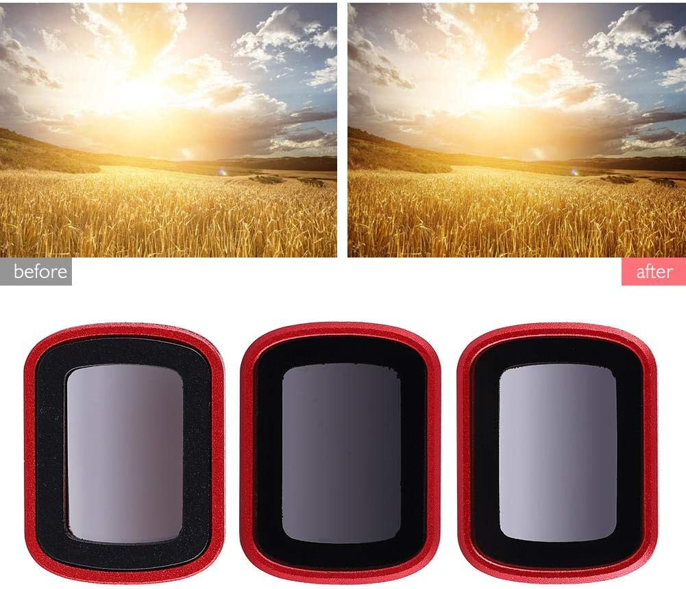 3Pcs Lens Filter Accessory Kit for DJI OSMO Pocket Graduated Color Neutral Density Lens Filter Set ND8-GR ND16-4 ND32-8