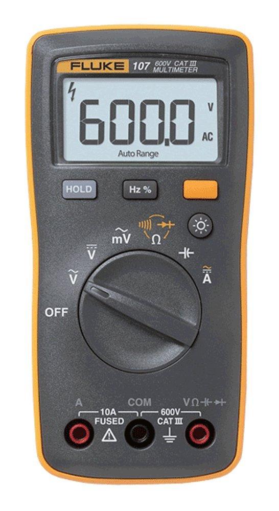 Fluke 107 Ac/dc Current Handheld Digital Multimeter by Fluke, Gray by Fluke