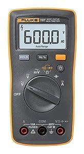 Fluke 107 Ac/dc Current Handheld Digital Multimeter by Fluke, Gray