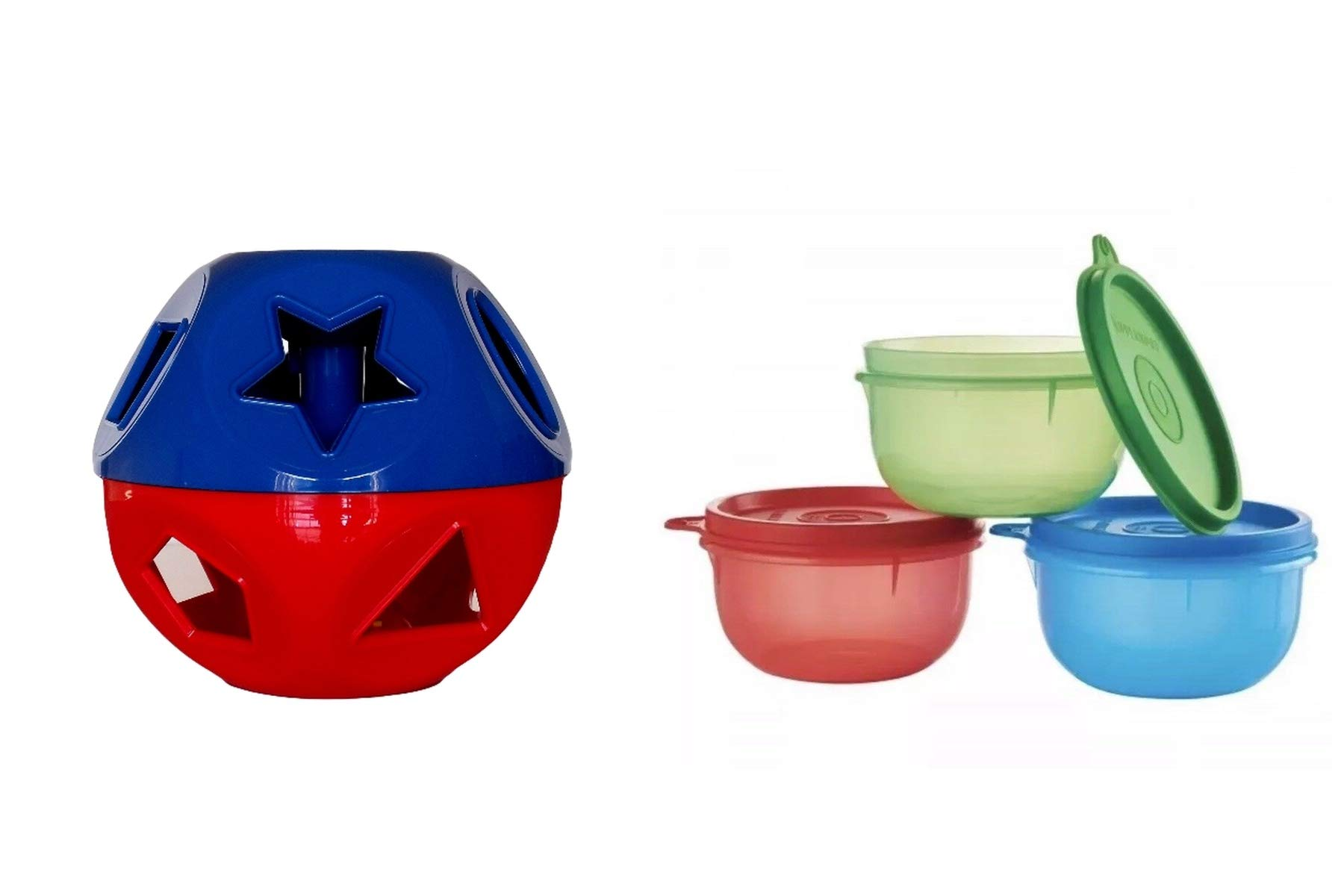 Puzzleball Little Cups 3 (8 Oz) Red Blue Green by Tuppeware