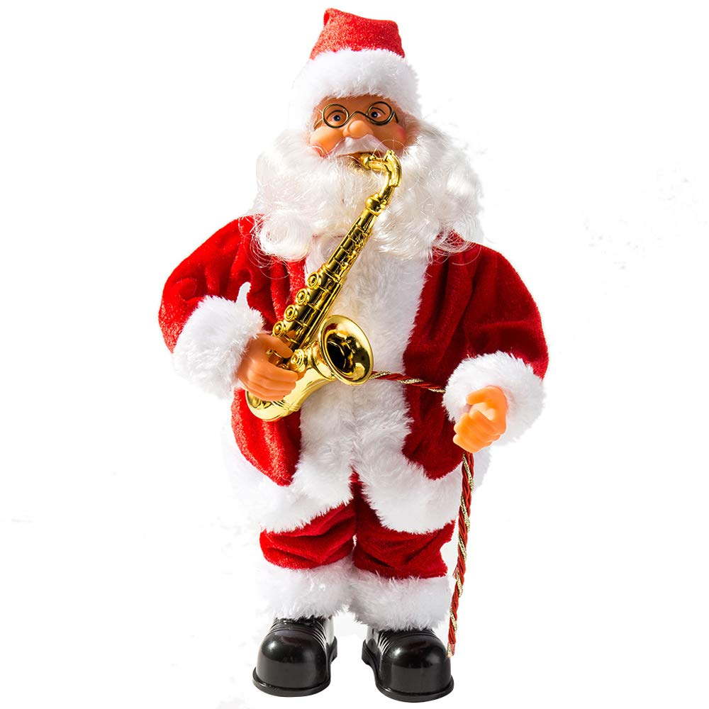 Stobok Dancing And Singing Santa Claus Doll Battery Operated Musical Moving Figu