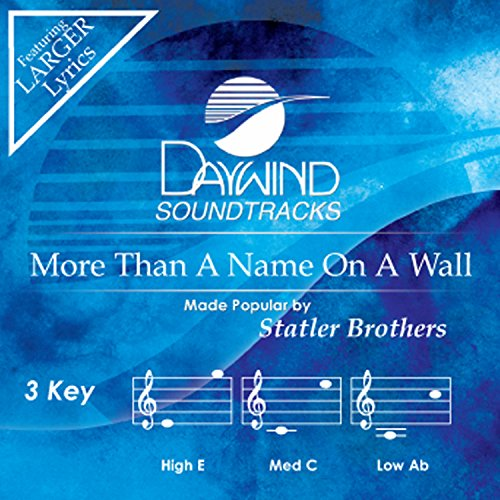 More Than A Name On A Wall [Accompaniment/Performance Track] (Daywind Soundtracks)