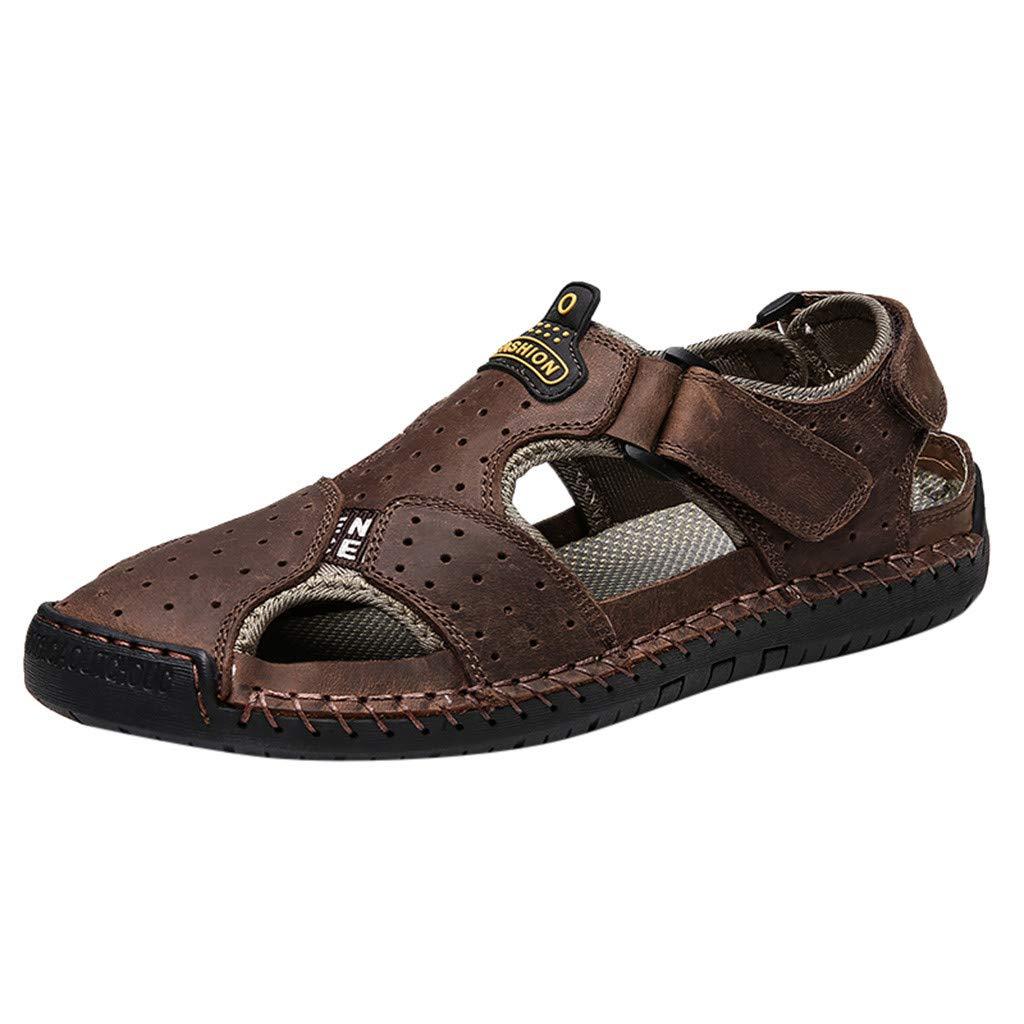 YKARITIANNA Men's Summer Fashion Trend Beach Casual Comfort Wild Sandals Brown