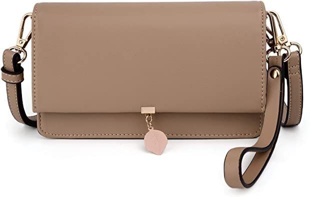 Leopard Skin Fur Colorful Phone Purse Small Crossbody Bag Leather Card Slots Wallet Shoulder Purses Fashion Travel Wallet